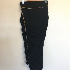 Marciano black strapless cocktail dress